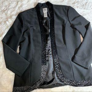 R & M Richards black blazer